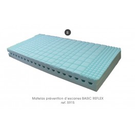 MATELAS PREVENTION D'ESCARRES (risque faible) monobloc BASIC REFLEX