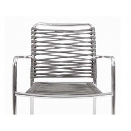 FAUTEUIL CORTINA INOX ARGENT