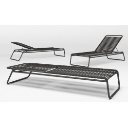 CHAISE LONGUE CORTINA INOX ANTHRACITE